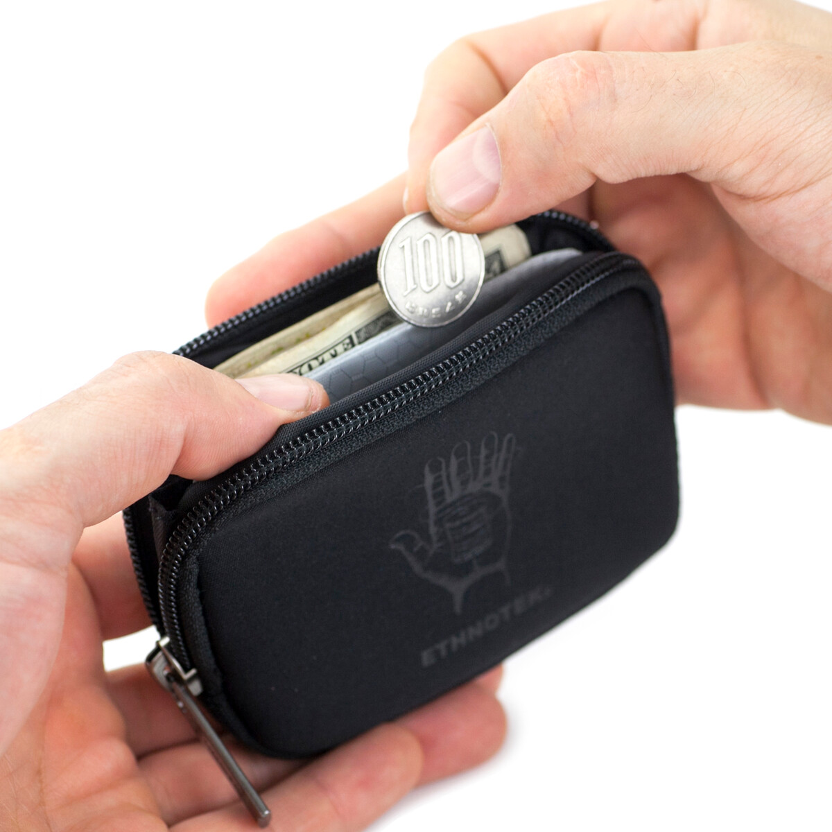 Coyopa Pouch Geldbörse RFID Block Ballistic Black